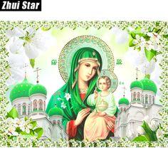 "Zhui Star Full Square Drill 5D DIY Diamond Painting ""religion"" handmade 3D Embroidery set Cross Stitch Mosaic Decor gift VIP #Affiliate"