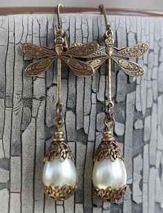 Vintage Dragonfly Earrings