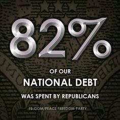 The GOP is the Party of Economic IRRESPONSIBILITY. They spend more and waste more.