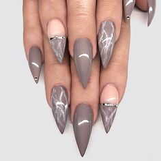 you should stay updated with latest nail art designs, nail colors, acrylic nails, coffin… - nailart Fancy Nails, Trendy Nails, Cute Nails, Stylish Nails, Nail Art Designs, Acrylic Nail Designs, Nails Design, Hair And Nails, My Nails