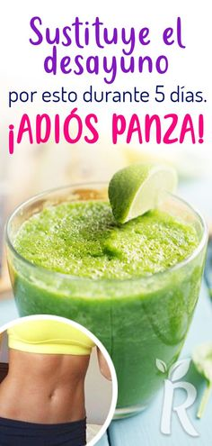 Replace your breakfast with this smoothie for 5 days and forget about the belly. Detox Diet Drinks, Juice Cleanse Recipes, Natural Detox Drinks, Detox Juices, Detox Recipes, Different Fruits And Vegetables, Macro Nutrition, Colon Cleanse Detox, Veggie Juice