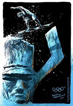 Francesco Francavilla - The Winter SUPER Olympics Silver Surfer