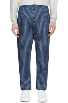 a2a90d11583d Sunnei - Indigo Denim Pinstriped Trousers Pinstripe Pants