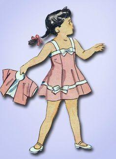 1940s Vtg Toddler's Sun Dress & Bolero Unused 1944 Simplicity Sewing Pattern Sz4 #Simplicity #ToddlerDress