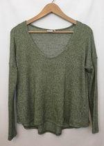 Lightweight slouchy green sweater!