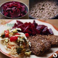 Kuchařka ze Svatojánu: POHANKOVÉ KARBANÁTKY S DUŠENOU ŘEPOU Meatloaf, Cabbage, Vegetarian, Beef, Vegan, Vegetables, Recipes, Food, Fitness
