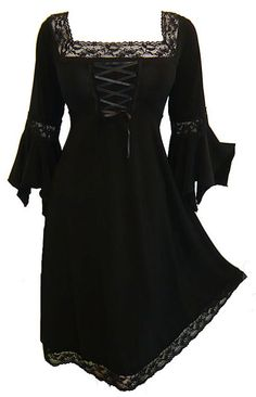 Dare to Wear Women's Plus Size Victorian Gothic Renaissance Corset Dress Do you know the dirty little secret about the little black dress? It doesn't always Renaissance Corset, Gothic Corset, Black Corset, Victorian Gothic, Dress Black, Renaissance Dresses, Plus Size Gothic Dresses, Size 14 Dresses, Plus Size Outfits