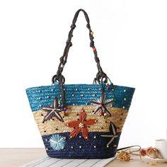 Summer Straw Beach Bag Weave Women Messenger Bags Large Capacity Travel  Bolsa Feminina Ladies Shoulder Bag Female  7103475003ac2