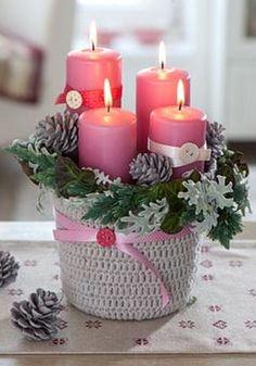 rózsaszín gyertyák