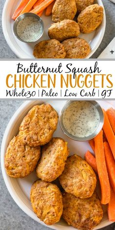 These easy butternut squash chicken nuggets are a healthy, Whole30 and gluten-free alternative to traditional nuggets. This recipe is a great way to sneak vegetables in, and are totally kid and family friendly, and paleo and low carb, too. With only a few ingredients, they're also quick to make for a weeknight meal or meal prep! #whole30recipes #whole30chicken #paleorecipes #paleochickenrecipes #lowcarb #keto #chickennuggets #glutenfreechicken #dinnerrecipes Ground Chicken Recipes, Paleo Chicken Recipes, Chicken Thigh Recipes, Paleo Recipes, Healthy Dinner Recipes, Real Food Recipes, Cooking Recipes, Paleo Meals, Healthy Dinners