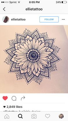 Love this daisy/sunflower mandala!