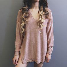 Betty Oversized Sweater (Rose)