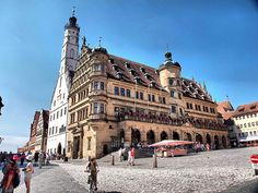We played in that town square :)) miss it so much. In Rothenburg, Germany.
