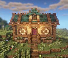 Minecraft Mansion, Minecraft Cottage, Minecraft Castle, Cute Minecraft Houses, Minecraft Plans, Minecraft House Designs, Minecraft Survival, Amazing Minecraft, Minecraft Tutorial