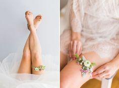 DIY Floral Garter   Green Wedding Shoes