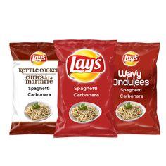 Découvrez cette excellente saveur canadienne : Spaghetti Carbonara s'inspirant du Québec sur Lay's® #FaitesNousUneSaveurCanada. En août, voyez quelle saveur représentera chaque région! Lays.ca/Saveur