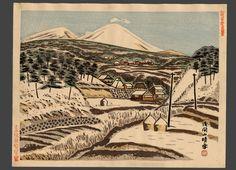 Mt. Asama in Snow (Nagano) | Shuji Kitazawa | The Art of Japan