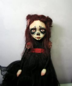 OOAK Artdoll Day of the dead by YovankaBlack on Etsy