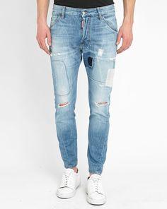 Jeans MenLook, achat Jean Kenny Twist Destroy Rapiecé Washed DSQUARED prix promo MenLook 485,00 €
