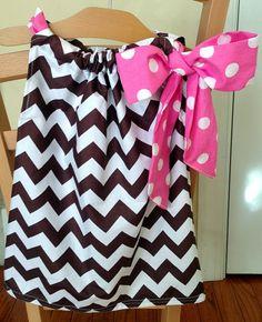 Pillow case dress.  Sew a bow.