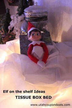 Elf on the Shelf Ideas - Tissue Box Bed