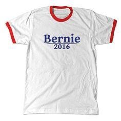 Bernie 2016 Red Ringer Tee - Freshtops Marketplace