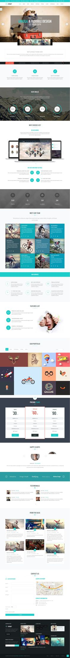 Enar Responsive Multi-Purpose Responsive Joomla Template. We have included 20+ ready-to-use Homepages in quick start, it is this huge, Awesome Design, Unique Concepts, Scalable Responsive, Amazing flexibility, Dark and Light Scheme, Many Features, Premium Plugins, Super Shortcodes. #cmstheme #Joomatemplate