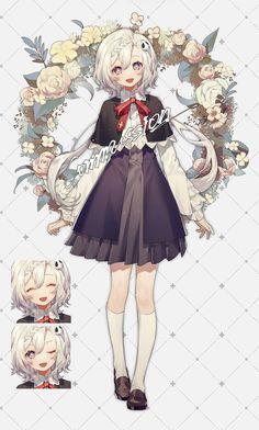 Anime Girl Dress, Anime Girl Cute, Anime Art Girl, Female Character Design, Character Design Inspiration, Character Art, Pretty Art, Cute Art, Dibujos Anime Chibi