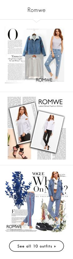 """""""Romwe"""" by amelaa-16 ❤ liked on Polyvore featuring Vanity Fair, romwe, Whiteley, NDI, Sonneman and Pier 1 Imports"""