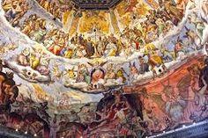 Particolare affreschi cupola del Duomo di Firenze, fatti da Giorgio Vasari nel 1572, dopo la sua morte fu sostituito da Federico Zuccari. Tema del Giudizio Universale