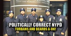 The politically correct NYPD is allowing officers to wear full turbans in place of the traditional police cap and grow beards up to a half-inch long as required by their religion. What if a female Muslim police officer wants to wear a full burqa? Is that ok, too? Where are the lines drawn? From Breitbart: NYPD Commissioner James O'Neill announced the change in policy Wednesday following a graduation ceremony for new recruits surrounded by officers wearing navy blue turbans kept in place…