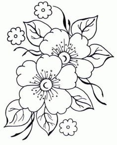pergamano - Page 2 - Embroidery flower patterns – Imagui: - Embroidery Designs, Embroidery Stitches, Hand Embroidery, Machine Embroidery, Flower Embroidery, Adult Coloring Pages, Coloring Books, Colouring, Free Coloring