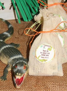 Lolly bags: Reptile Birthday Party
