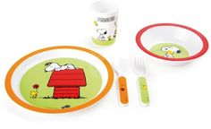 Small Foot - Snoopy Peanuts 5-delig kinderservies van sterk melamine