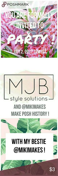 P A R T Y Sunday July 2, 2017 7pm PST SHARE!!!! MARK YOUR CALENDARS!!! - History being made PFF's!!! - Join me and my bestie Kasey @MIKIMAKES  as we HOST OUR FIRST POSH PARTY - JULY 2, 2017 7PM PST SHARE and be considered for host picks = SALES $$$ PINK Victoria's Secret Tops