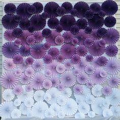 Pinwheel Wall 8' x 8' Custom Color Wedding Event Decoration