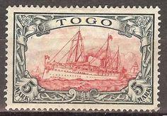 1919-German-colonies-Togo-5-Mark-Yacht-issue-mint-Mi-23-II-A-220-00