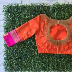 Latest Maggam Work Blouse Designs 2018 by Nyshka Design Studio boutique located in coimbatore, tamilnadu. Designer blouses for silk sarees Blouse Back Neck Designs, Best Blouse Designs, Simple Blouse Designs, Stylish Blouse Design, Bridal Blouse Designs, Design Page, Pattu Saree Blouse Designs, Choli Designs, Work Blouse