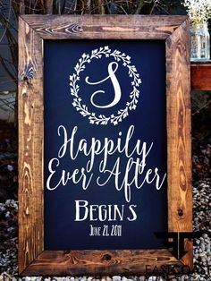 Happily Ever After Wedding Sign Decal // by EastCoastVinylDecals