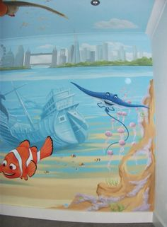 finding nemo nursery themes wish we could put this on her walls