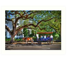 Touring Through Historic Charleston Art Print