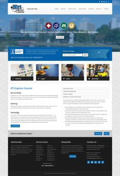 Custom web design for KTI Express Courier in Huntsville, Alabama. Huntsville Alabama, Courier Service, Custom Web Design, Upcoming Events, Medical, Design Ideas, Train, Technology, Business