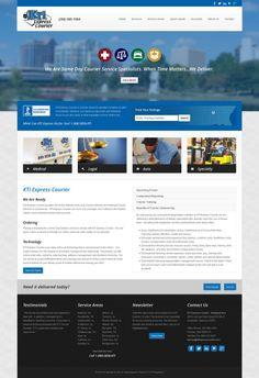 Custom web design for KTI Express Courier in Huntsville, Alabama. #webdesign #custom #corporate #clean #business #joomla #bootstrap #responsive