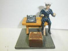 alter Elastolin Massesoldat Kriegsmarine Matrose mit Schreibmaschine zu 7.5cm | eBay