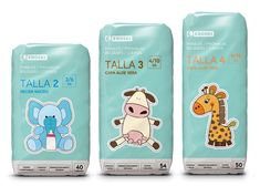 """The same look don't you think Cynthia? """"Eroski"""" Diapers and Nappy Pants. So cute #packaging : ) PD"""
