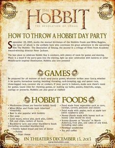 Why don't we just throw a Hobbit party for the reception?