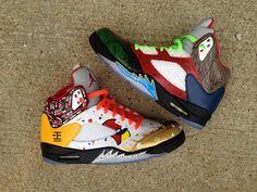 """Air Jordan 5 """"What the 5"""" Custom"""