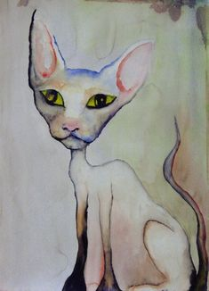 Lily White -watercolor by Marilyn Manson 1999