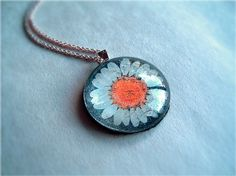 dried flower necklace | Dried Flower Glass Necklace