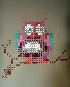 kruissteek uiltje! - cross stitch owl